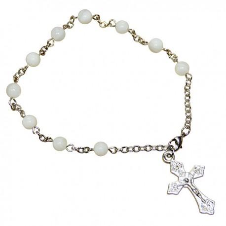 Bracelet Dizaine perles Blanches