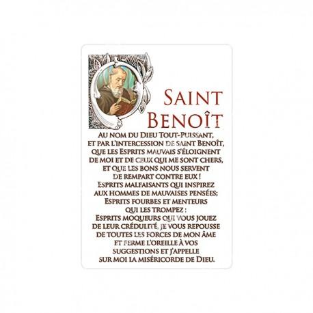 """Autocollants Rectangulaires - """"Saint Benoît"""" - 8 pièces - Français"""
