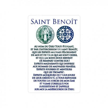 """Autocollants Rectangulaires - """"Saint Benoît Médaille"""" - 8 pièces - Français"""