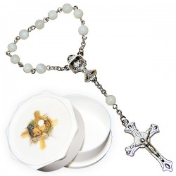Mother of pearl Dozen, heart, Chalice with communion box