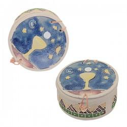 Terracotta decorated box Chalice