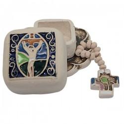 Dozen with Terracotta Christ box