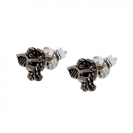 Boucles d'oreilles Papillons Bleues - Argent 925