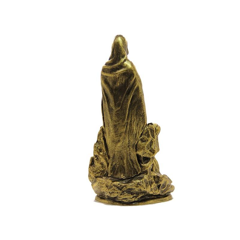 statue apparition de lourdes dor e poudre de marbre maison halleux pro. Black Bedroom Furniture Sets. Home Design Ideas