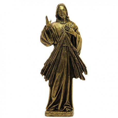 christ misericordieux couleur bronze poudre de marbre 22 cm maison halleux pro. Black Bedroom Furniture Sets. Home Design Ideas