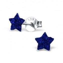 Blue Stars Earrings - 925 Silver