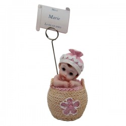 Baby photo holder - Pink and blue