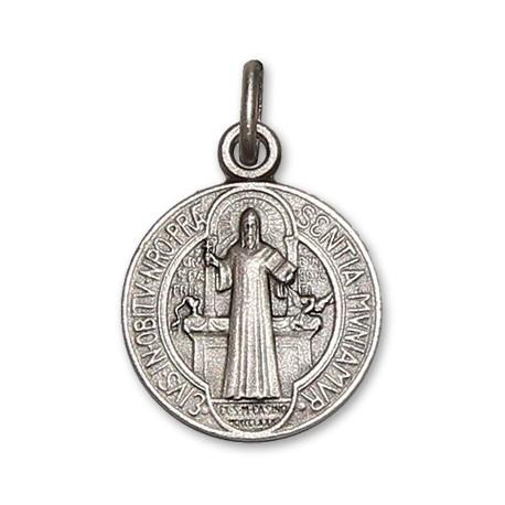 Médaille de Saint Benoit 18 mm - Argent 925