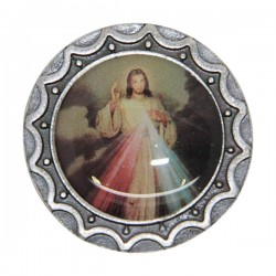 adhesive magnetic plate with Christ Merciful