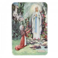 Plaque frigo de l'Apparition Lourdes - Magnétique
