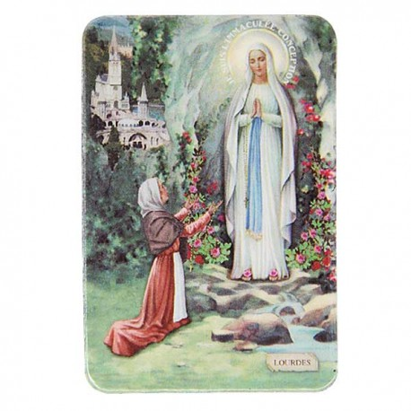Plaque frigo de l'Apparition Lourdes