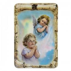 Plaque frigo à l'Ange protecteur Enfant - Magnétique