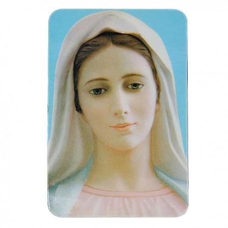 Plaque frigo à la Vierge de Medjugorje  - Magnétique