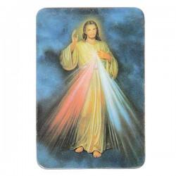 Plaque frigo au Christ Misericordieux  - Magnétique