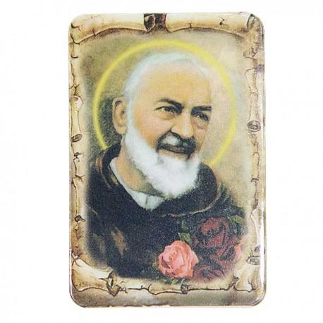 Plaque frigo au Padre Pio  - Magnétique