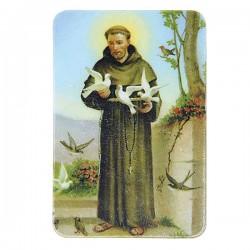 Plaque frigo de Saint François d'Assise  - Magnétique