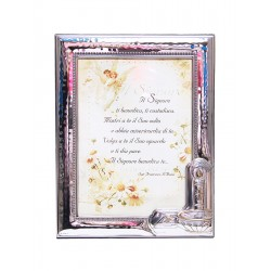 Photo Frame Baptism - in Silver - 13 x 18 cm