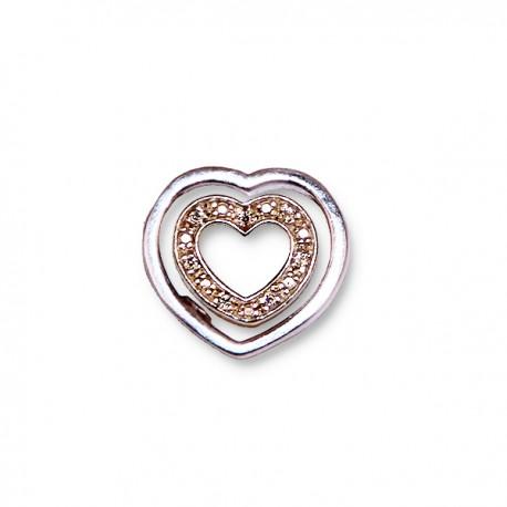 Pendentif Cœur avec Zircon 2 - Argent 925