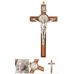 Croix Saint Benoit en bois - 25 cm