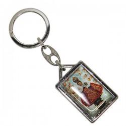 Little Jesus of Prague Keychain - Rectangular