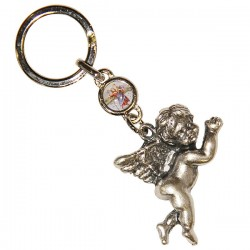Protective Angel and Saint Christopher Keychain