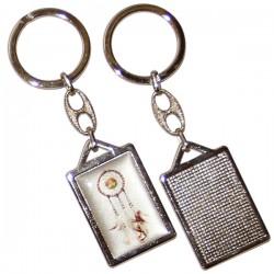 Dream Catcher Keychain - Rectangular