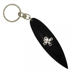 Keychain Surfboard with Cross