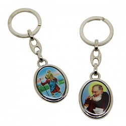 Keychains Saint Christophe and Padre Pio