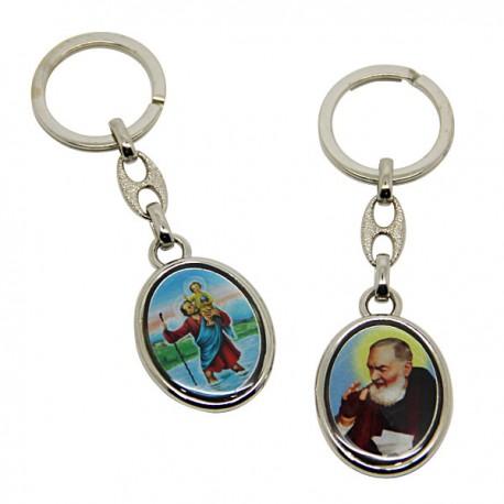 Porte-clés Petit Jésus de Prague - rectangulaire