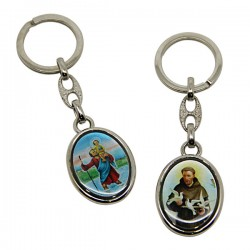 Keychains Saint Christopher and Saint Francis of Assisi