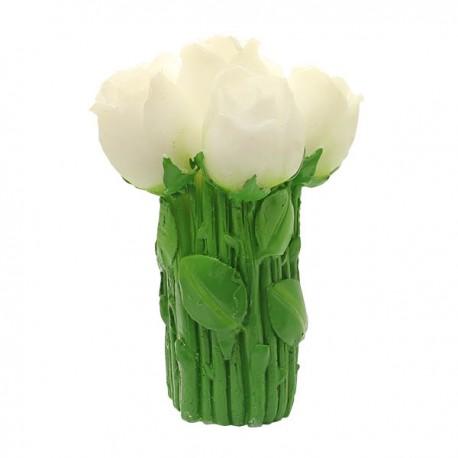 Bougie Bouquet de Roses - Couleur Blanc