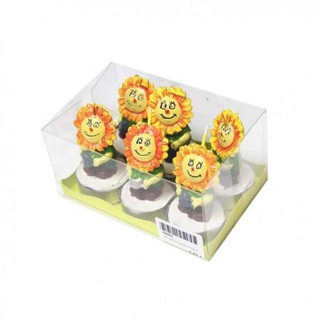 Bougie en forme de Fleurs Jonquilles  - Tea Light