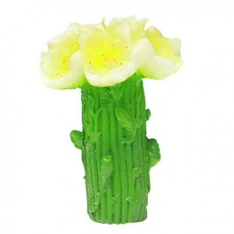 Bougie en forme de fleur - Jaune