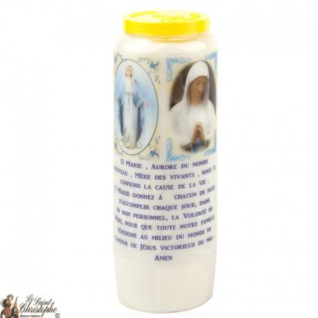 Bougies Neuvaines de Saint Michel prière Français - Modèle 1