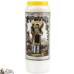 Bougies Neuvaines à Saint Vincent prière Français