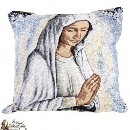 Coussin avec la Vierge Marie de Banneux ND
