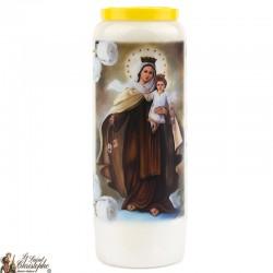 Bougies Neuvaines à la Vierge du Mont Carmel modèle 1 - prière Français