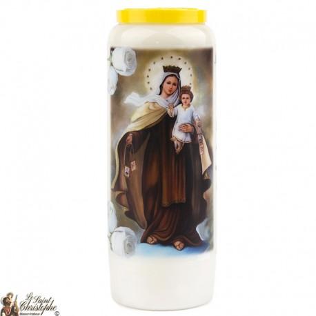 Bougies Neuvaines à la Vierge du Mont Carmel - prière Français