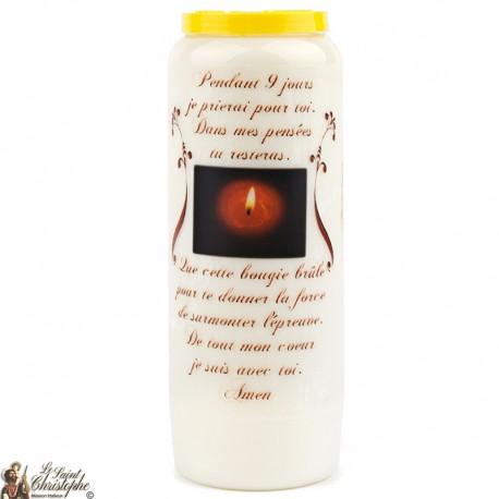 Bougies Neuvaines de Saint prière Français