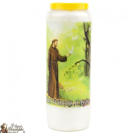 "Candles Novena - White - ""Saint Francis of Assisi"" (French)"