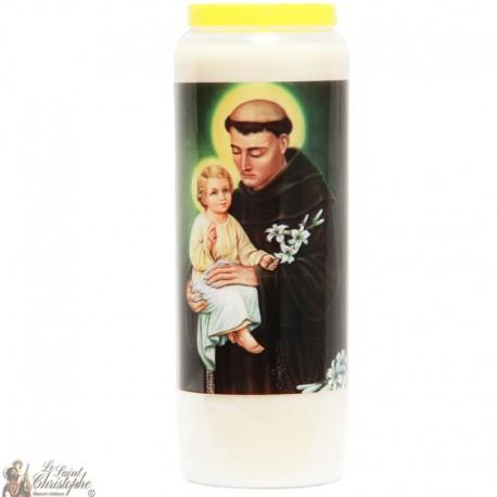 """Candles Novena - White - """"Saint Anthony of Padua"""" (Multilingual)"""