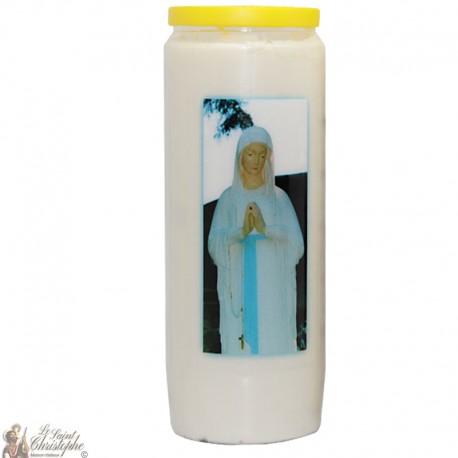 Bougies Neuvaines - Blanches - Banneux N.D - Vierge mains bénédiction - (Multilingue)