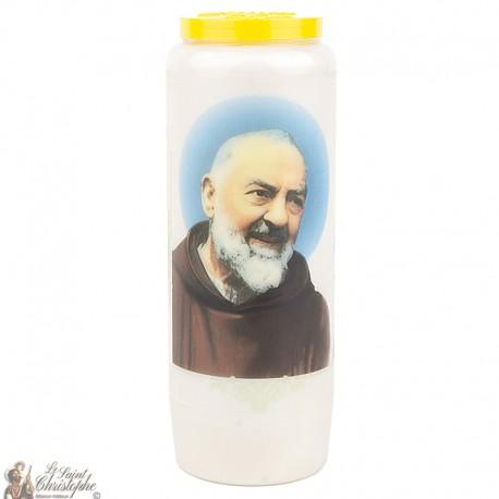 Bougies Neuvaines - Blanches au Padre Pio - Prière français