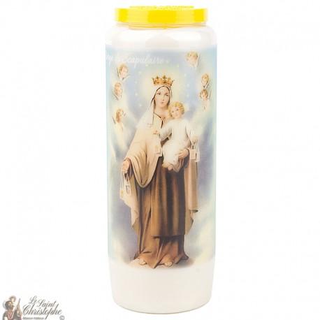 Bougies Neuvaines  à la Vierge du Scapulaire - prière Français
