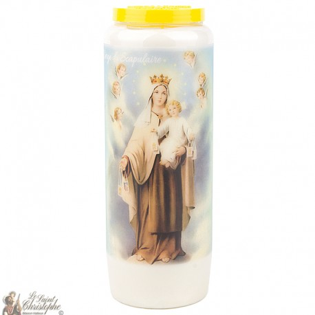 "Candles Novena - White - ""Vierge Scapulaire"" (French)"
