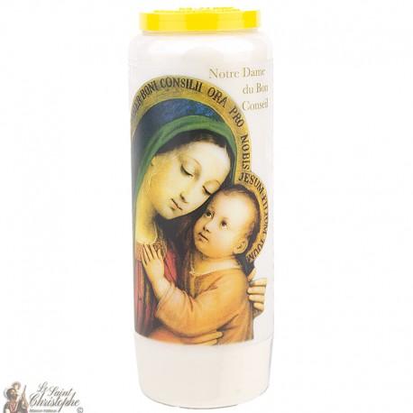 Bougies Neuvaines  Notre Dame du Bon Conseil français
