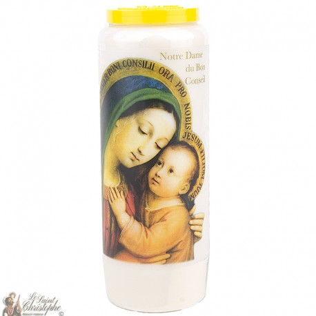 "Candles Novena - White - ""Our Lady of Good Counsel"" (French)"