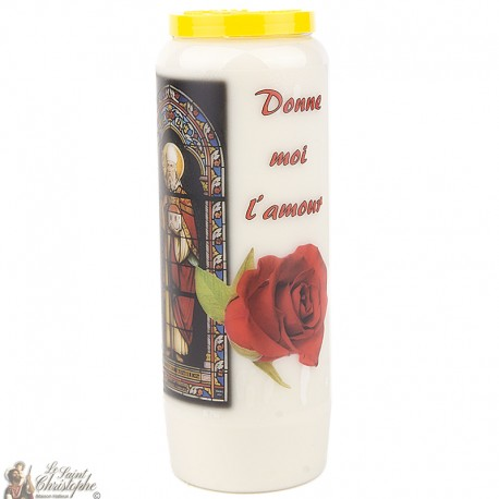 "Candles Novena - White - ""Archangel Saint Michael"" (French)"