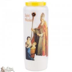 Bougies Neuvaines à Saint Nicolas modèle 2 - prière Français