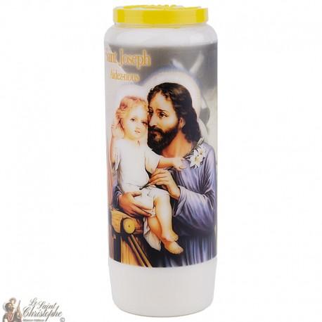 """Candles Novena - White - """"Saint Joseph"""""""